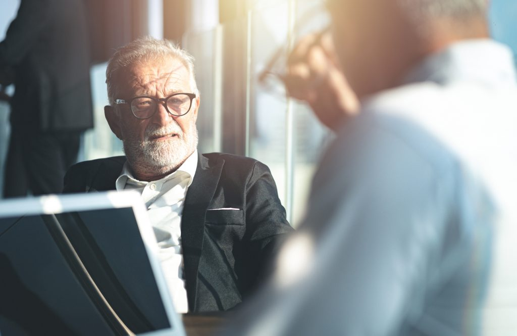 An independent financial adviser looking to retire